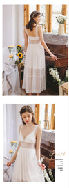 Robe Sweet Lace Sexy Nightgown Woman Princess Robes Suit Soft Robe 2 pcs set Bride Robe Set Long Sleepwear Dress