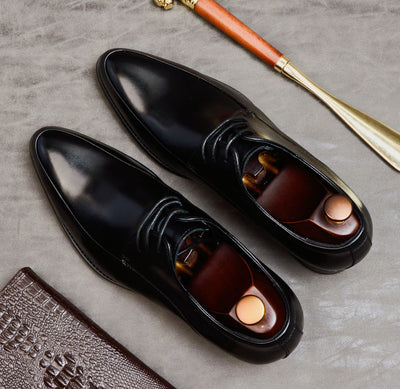 QYFCIOUFU 2019 Summer New Arrival Men's Oxford Dress Shoes Formal Wedding Office Male Footwear Genuine Cow Leather Italian Shoes
