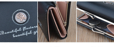 Brand Designer Small Wallet Women Leather Wallets Female Short Zipper Coin Purses Money Credit Card Holders Clutch Bags W058