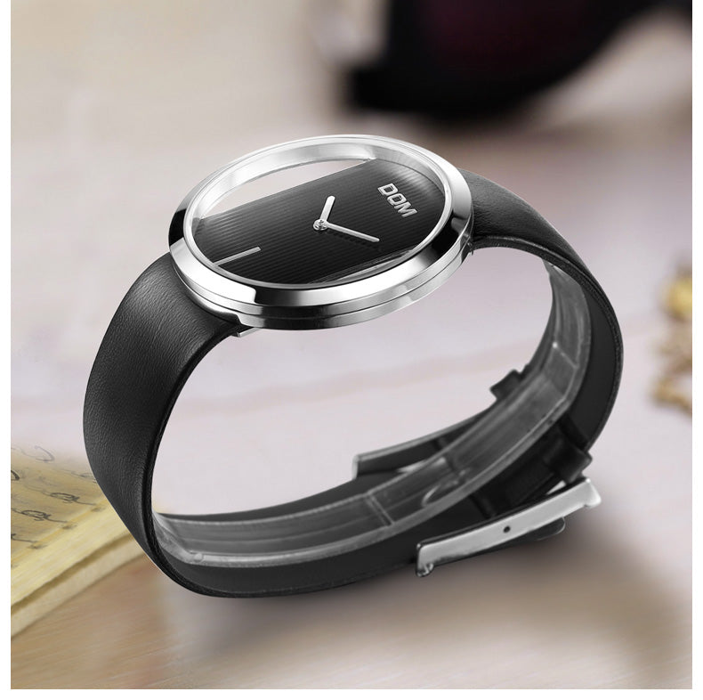 DOM Red Watch Women Watches Ladies Creative Leather Women's Waterproof Watches Female Clock Relogio Feminino Montre Femme LP-205