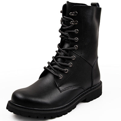 LUFUMA Military Boots Men Winter Shoes Warm Men Leather Boots Footwear Cowboy Tactical Boots Men Casual Shoes Size 38-48