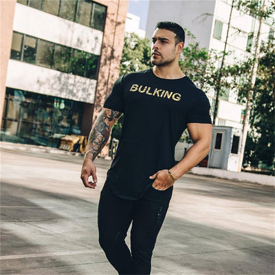 2019 Summer New Arrival Bodybuilding Fitness Mens Short Sleeve T-shirt GymS Shirt Men Muscle Tights brand Fitness T Shirt Tops