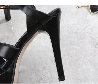 Peeps Toe Platform Heels Shoes Women Pumps Ankle Strap Women Wedding Shoes Ladies Shoes Mary Jane Thick high Heels shoes size 41