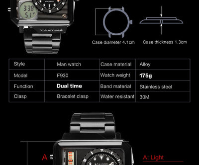 2019 New Fashion BOAMIGO Top Brand Luxury Men's Watch 30m Waterproof Auto Date Clock Male Watches Men Digital Casual WristWatch
