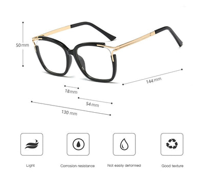 48054 Square Cat Eye Ultralight Glasses Frames Men Women Optical Fashion Computer Glasses