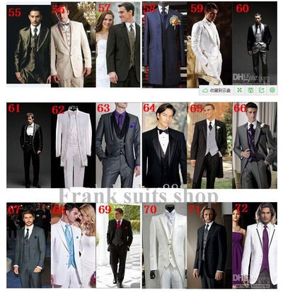 New Two Pieces Two Buttons Gray Men's Wedding Suits Shawl Lapel Wedding suits for men Groom Wedding Suits( jacket+Pants+tie)