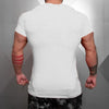 Brand Solid Clothing Gyms t-shirt Mens Fitness Tight t-shirt Cotton Slim fit t shirt men Bodybuilding Summer top Blank tshirt
