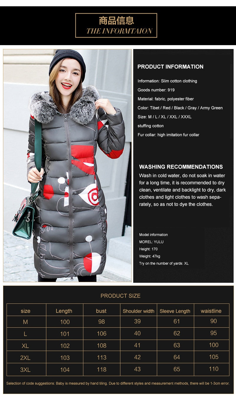 2020 New Brand Women Long Down Parka Reversible Jacket Women Winter Down Jacket Women 2019 Hooded Oversize Coat Plus Size 3XL