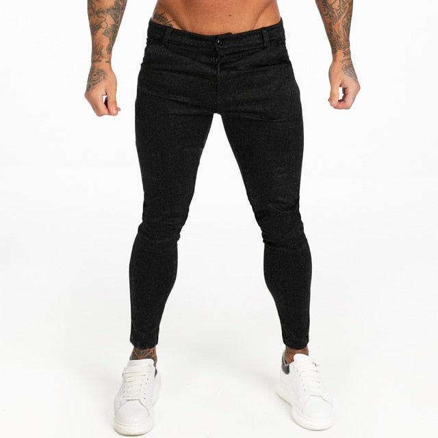 GINGTTO Mens Chinos Pants Trousers Skinny Fit Mens Stretchy Pants High Waist Plus Size Athletic Fit Joggers Dropshipping zm371