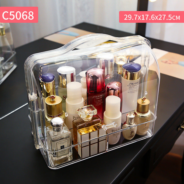 Transparent Cosmetic Storage Box Creative Portable Desktop Storage Box Storage Box Waterproof Drawer Beauty Storage Box