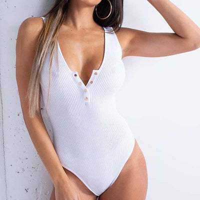 EIFER Deep V neck fashion sexy bodysuit women body summer 2018 rompers womens jumpsuit bodysuits tops one piece playsuit
