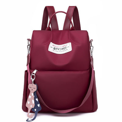 Anti-theft female backpack Oxford cloth fashion large capacity travel backpack multi-function laptop school bag