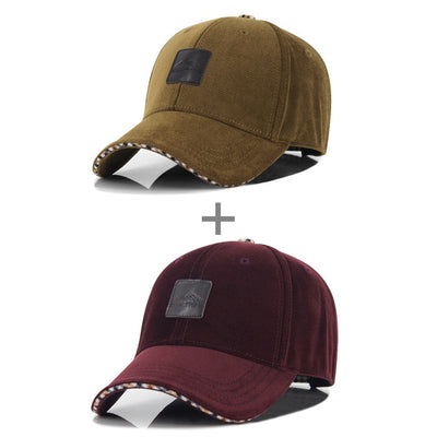 [AETRENDS] Winter Baseball Cap Fashion Caps for Men Trucker Hat 4 Colors for Choice Z-1937