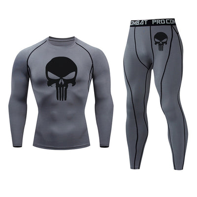 2019 men's thermal underwear set MMA tactics leggings Solid fitness Men's compression set clothing Winter long johns Brands men