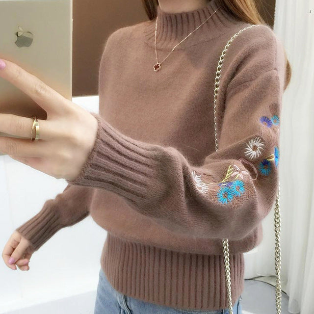 New Fashion 2019 Autumn Knitted Women Sweater Long Sleeve O-neck Casual Women Clothing Soft Women Blouse Women Tops 5459 50