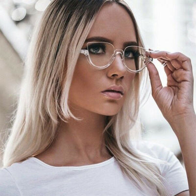 45159 Cat Eye Glasses Frames Women Trending Styles Half Frame Designer Fashion Computer Glasses