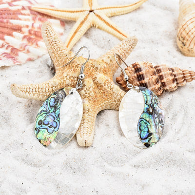 CHICVIE Luxury Simple Retro Style Abalone Splice Earrings With Stones For Women Jewelry Ethnic Personality DIY Earring SER170043