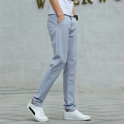 Pants Men New 2019 Casual Pants Linen Male Trousers Man Long Straight Khaki Plus Size Pant Male Slim Business Suit Pants,L118