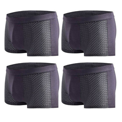 890 4pcs/lot Summer Men's Underwear Man boxer Ice Mesh Breathable Sexy Youth Boxer Bamboo Ventilate Shorts B009