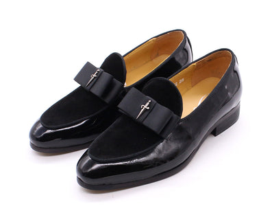 4-12 Years Children's Dress Shoes Patent Leather Suede Kids Loafer Flat Slip On Party Black Formal Shoes for Primary School Boys