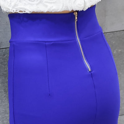 High Waist Elastic Pencil Skirt Lady Office Bodycon Skirts Womens Summer 2020 Knee Length Back Split Ladies Office Saia