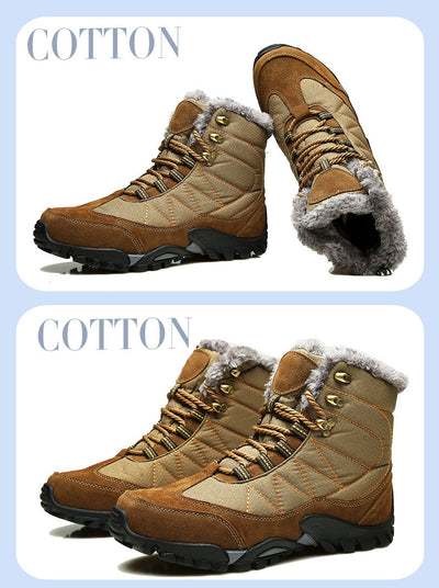 2018 New Winter Super Warm Men Snow Boots With Fur Short Plush Ankle Boots Men Shoes Waterproof Fabric Winter Shoes