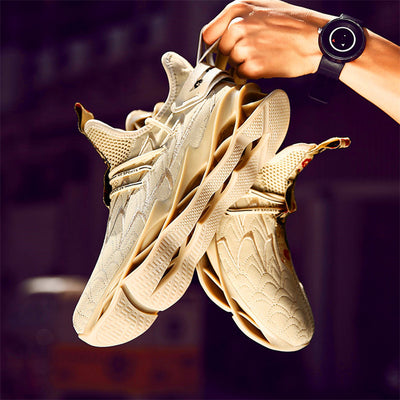 Hot selling men's flying woven breathable sports shoes men's casual shoes lightweight breathable wicking wild running shoes lace
