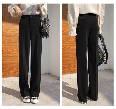 fashion elegant women pants 2019 office ladies work Women Pants Casual Loose solid black pants Trousers women formal 5098 50