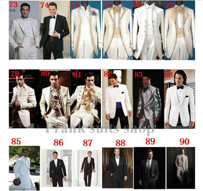 2018 Top Selling New black Custom made two buttons tuxedo for men Groom Tuxedos men Ball Gowns( jacket+Pants+vest+tie)