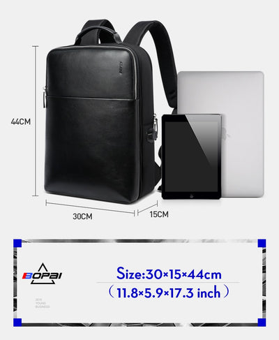 BOPAI 2 in 1 Backpacks for Men Detachable 15.6inch Laptop Backpack Male Waterproof Notebook Slim back pack Men School Backpacks