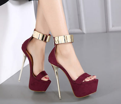 Ankle Strap heels Platform Sandals Party shoes  Wedding Sandals Women Pumps
