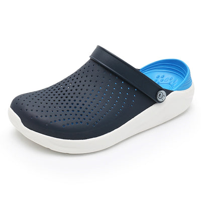 2019 Men Sandals Crocks LiteRide Hole Shoes Crok Rubber Clogs For Men EVA Unisex Garden Shoes Black Crocse Adulto Cholas Hombre