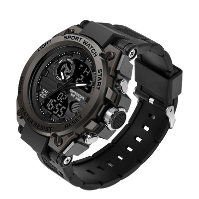 SANDA 739 Sports Men's Watches Top Brand Luxury Military Quartz Watch Men Waterproof S Shock Male Clock relogio masculino 2020