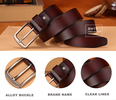 [DWTS]men's belt leather belt men male genuine leather strap luxury pin buckle fancy vintage jeans cintos masculinos
