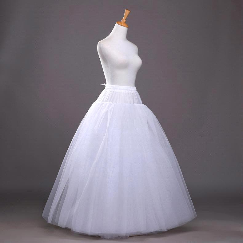 3 Layers Ball Gown Petticoats Womens White Hoopless Underskirt Wedding Dress Petticoat Slip Crinoline Bridal Wedding Accessories