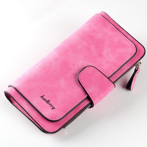 Baellerry Wallet Women Leather Luxury Card Holder Clutch Casual Women Wallets Zipper Pocket Hasp Ladies Wallet Female Purse W196