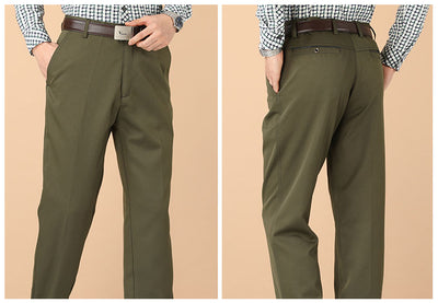 New Design Autumn Men Casual Pants Thick Loose Male Pant High Waist Straight Trousers Business Fashion Pants Man Plus Size 29-40