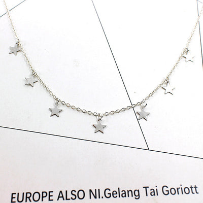 2019 New Boho Women chocker neck Chain star choker Necklace collana Kolye Bijoux Collares Mujer gargantilha Collier Femme