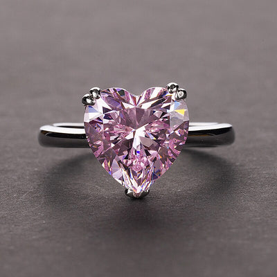 Natural Red Ruby Heart Gemstone Sterling 925 Silver Wedding Rings For Women Bridal Fine Jewelry Engagement Jewelry Accessories