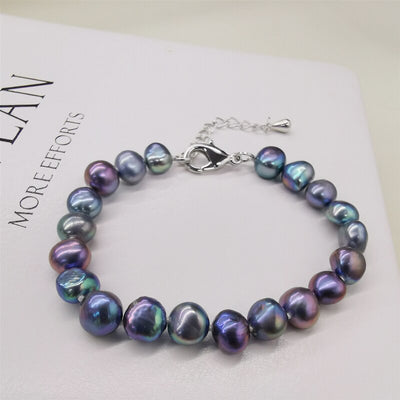 DAIMI Natural Freshwater Pearl Bracelet classic Style White/Purple/Pink/Black Bracelets For Women