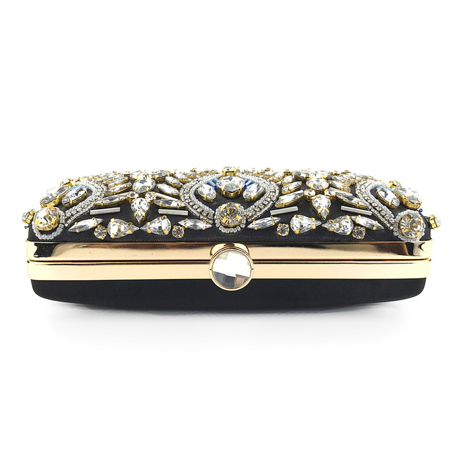 Rhinestones Women Metal Evening Clutch Bag Fashion Lady Female Diamond Super Mini Handbag Wedding Bag Crystal Beaded Clutch #38