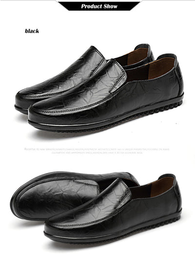Summer Comfortable Slip On Men Loafers Casual Shoes Man Leather Shoes Men Flats Hot Sale Driving Shoes Moccasins Plus Size 47