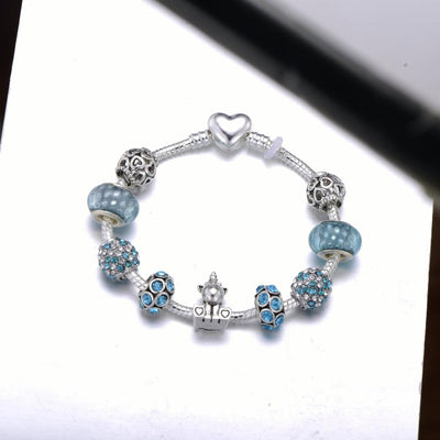 Lovely Unicorn Charm Bracelet Bangle With Silver Plated Snake Chain Brand Bracelet For Women Girls Christmas Jewelry Gift