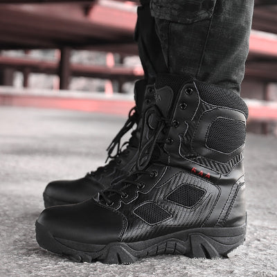 LUFUMA Size 39-47 Desert Tactical Mens Boots Wear-resisting Army Boots Men Waterproof Outdoor Hiking Men Combat Ankle Boots