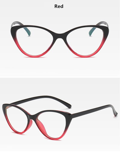 KOTTDO Fashion Vintage Cat Eye Glasses Frame Women Eyeglasses Optical Plastic Clear Lens Myopia Glasses for Unisex Eyewear