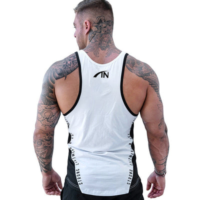 Men Bodybuilding Tank Tops Gym Workout Fitness Cotton Sleeveless shirt Running Clothes Stringer Singlet Male Summer Casual Vest