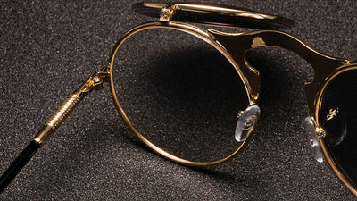 3057 STEAMPUNK Metal Round Sunglasses Men Women Retro CIRCLE SUN GLASSES Brand Designer Fashion Eyewear Shades UV Protection