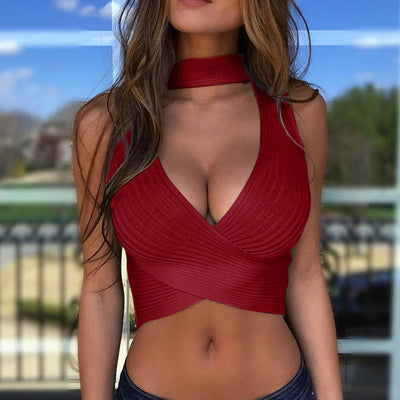 Summer Tank Top Tank Top Sport Woman Sexy Women's Fashion Summer Knitted Vest Jacket Crop Top Women Ropa Mujer Muskelshirt