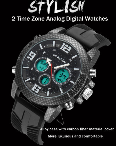 BOAMIGO Luxury Brand Watches Men Sports Watches  LED Digital analog Quartz Men Military Wrist Watch Clock Man Relogio Masculino