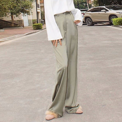 TWOTWNSTYLE Maxi Pants For Women High Waist Zipper Pocket Summer Big Large Size Long Trousers 2020 Fashion Elegant Clothing